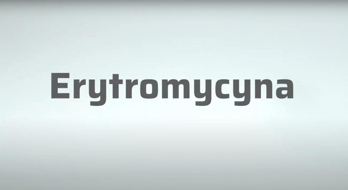 Surowce recepturowe – erytromycyna